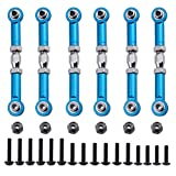 steering knuckle tornado epx - Hobbypark 6pcs 166617 Aluminum Turnbuckle w/ machined Rod Ends Steering Linkage 166017 Blue for 1/10 Redcat Volcano EPX / Pro Upgrade Parts Monster Truck HSP Brontosaurus 94111