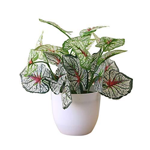 XdiseD9Xsmao kunstmatige bonsai-vaas met kunstmatige bladeren en vaas voor bar, kantoor, restaurant, hotel, winkel decor 3