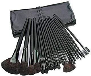 24 Pcs Makeup Brush Set Kit - Black MSQ