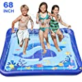 "GiftInTheBox Kids Sprinkler & Splash Play Mat 68"" Sprinkler for Kids Outdoor Water Toys Fun for Toddlers Boys Girls Children Outdoor Party Sprinkler Toy Splash Pad"