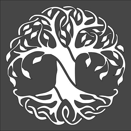 Stencil Tree of Life Celtic Pattern Design, Plastic Reusable