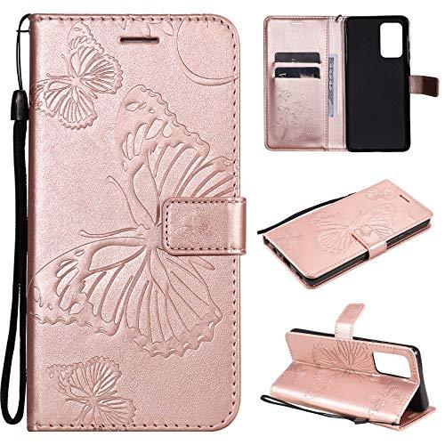 SMYTU Custodia per Samsung Galaxy A52,Cover a Libro Samsung Galaxy A52,Custodia Flip in Pelle Magnetica Portafoglio per Samsung Galaxy A52 (B-Goldrose)