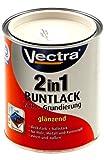 Vectra 2761 2in1 Buntlack Lack + Grundierung Cremeweiß RAL 9001 Glänzend 750ml (WL1)