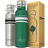 INDIGENA - Borraccia Termica Acciaio Inox 650ml-500ml, PIANTA Un Albero a Bottiglia Termica, Thermos Doppia Parete per Bevande Calde 12h Fredde 24h, Eco Bpa Free