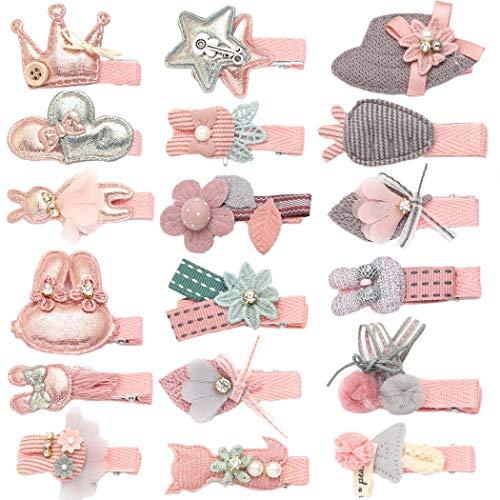 Unicra Haarspangen 18 PCS Baby Kleinkind Bogen Haarspangen Haarteile Zubehör Geschenksets für Mädchen
