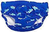 Playshoes Baby-Jungen UV-Schutz Windelhose Hai Schwimmbekleidung, Blau (original), 74/80
