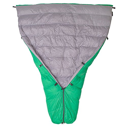 Paria Outdoor Products Thermodown 15 Degree Down Sleeping Quilt - Ultralight Cold Weather, 3 Season Quilt - Perfect for Backcountry Camping, Backpacking and Hammocks (Long)