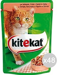 Kitekat Juego 48 Gato sobre 100Salmón Comida para Gatos