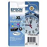 EPSON C13T27154010 T2715 cartouche d'encre 27XL réveil, Multi-Pack, 3 pièces, cyan / magenta / jaune Amazon Dash Replenishment est prêt