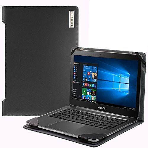 Navitech Broonel London Housse en cuir vegan pour ordinateur portable ASUS X541UA 15,6 Noir