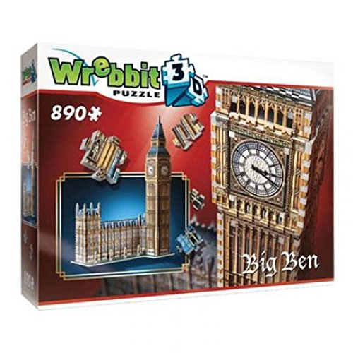 Wrebbit 3D W3D-2002 - Big Ben und House Of Parliament - Queen Elisabeth Tower, 3D-Puzzle