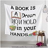 BD-Boomdbl 教科書壁アートタペストリー家の装飾壁が寝室のリビングルームにぶら下がっている150X130cm