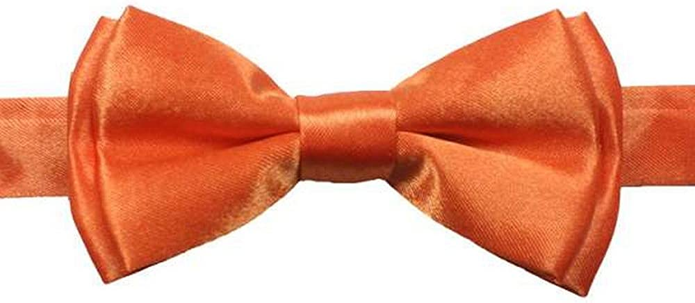 Boy's Solid Color Banded Satin Bow Ties