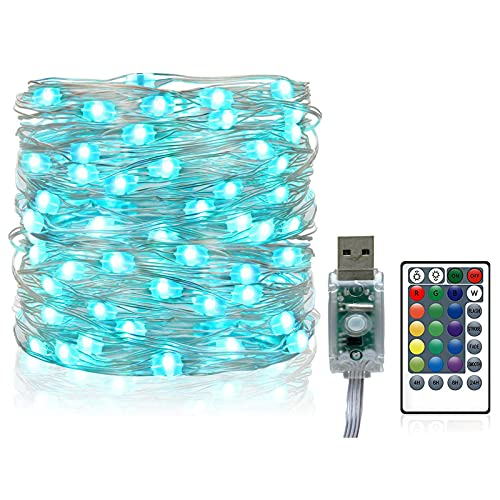 Firefly Lights, 16 Colors Changing 200 LEDs 20M / 66ft USB String Lights with Remote Control, Fairy Lights for Party, Wedding, Patio Festivals Indoor Outdoor Decorative