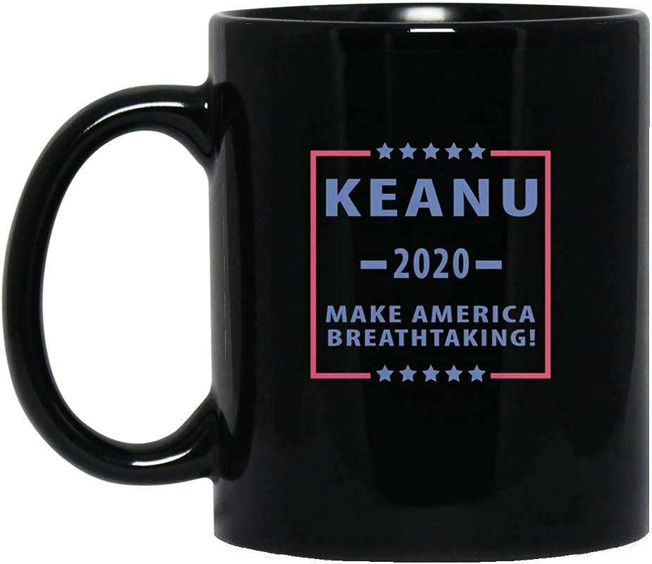 Keanu 2020 Make America Breathtaking T Shirt Mug 11oz Black 11oz