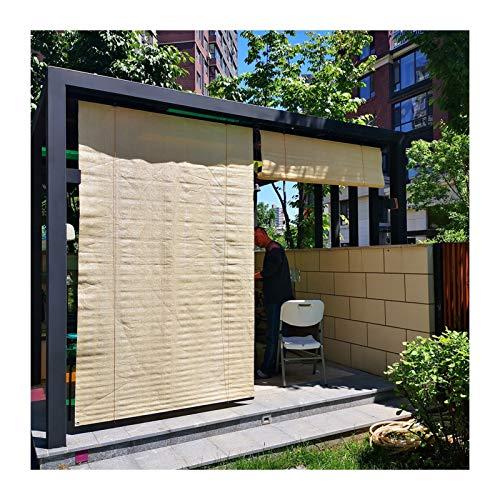 Persiana Enrollable Shadow, Pantalla De Sombra, HDPE Transpirable A Prueba De Viento Filtro De Deslumbramiento con Riel Colgante De Aleación De Aluminio para Porches, Jardines