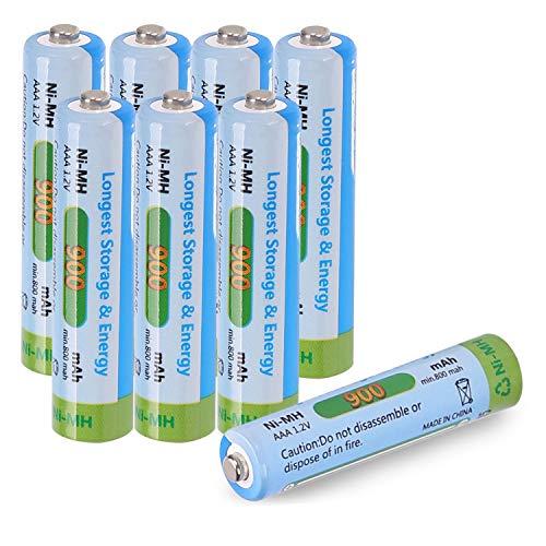 Tera Batteria Ricaricabile AAA Ni-MH 900mAh 1.2V Batteria Telefono Cordless per Uso di 1200 Volte Confezione da 8