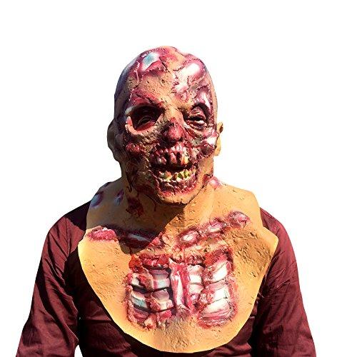 The Walking Dead Zombie Horror grusel Maske - perfekt für Fasching, Karneval & Halloween - Kostüm für Erwachsene - Latex, Unisex Einheitsgröße