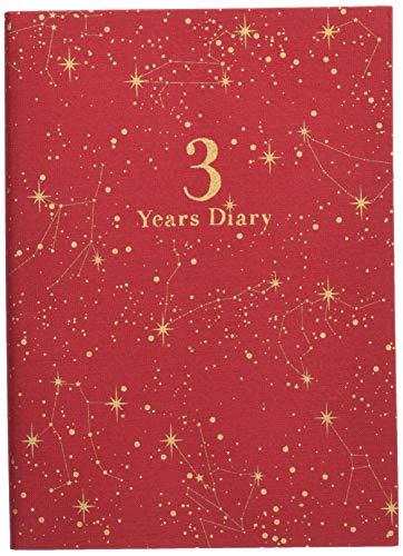 アーティミス アーティミス 日記帳 3年連用 星座 赤 DP3-SE RD