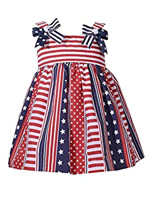 Infant Girls Red White & Blue Patriotic Party & Summer Holiday Dress 18M
