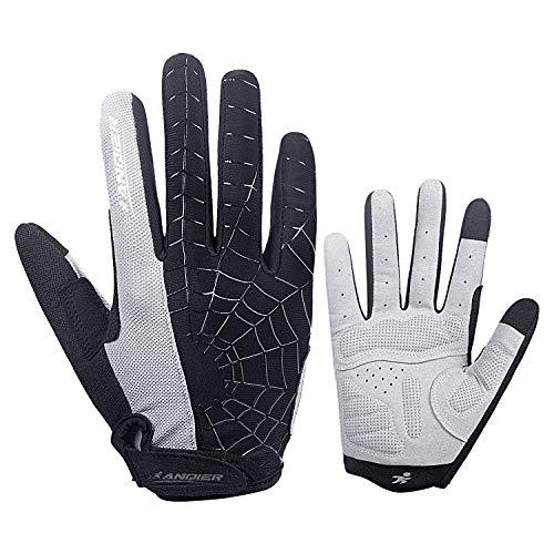coskefy Fahrradhandschuhe Herren DamenFitness Handschuhe Gepolsterte Atmungsaktive rutschfest MTB Radsporthandschuhe(Vollfinger)