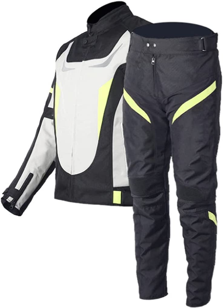 HGFHG Easy-to-use Motorbike Bargain sale Racing Suits Motorcycle Trouser Jacket Wind with