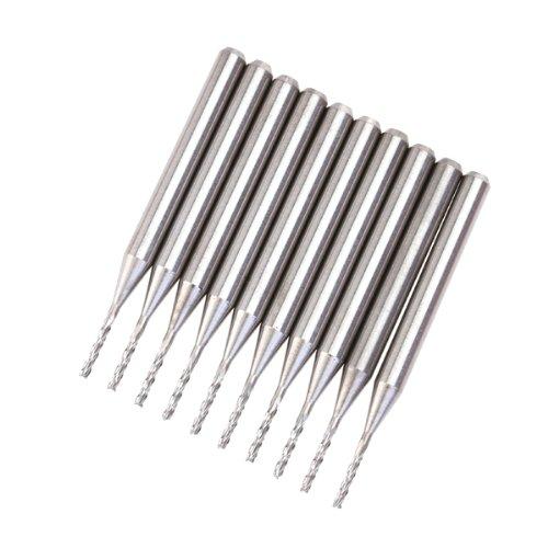 10pcs エンドミル 1.0mm - ジェネリック(Generic)