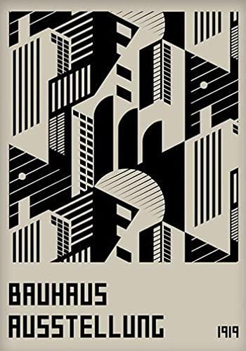 Arte del cartel de la exposición de la Bauhaus, impresiones de diseño retro de la Bauhaus, pinturas de lienzo sin marco decorativas modernistas A10 30x40cm