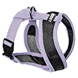 Gooby - Active X Head-In Harness, Choke Free Small Dog Harness with Synthetic Lambskin Soft Strap, Purple, Large, Large chest (14-20')
