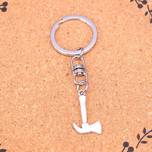 XHYKL charmanteSilberne Farbe Metall Vintage Feuer Axt Axt Schlüsselanhänger Zubehör & verchromt Schlüsselanhänger