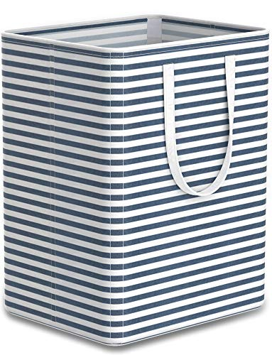 Tribesigns 96L Extra Large Laundry Hamper Collapsible Laundry Basket with Handle 4 Detachable Rods Cotton Linen Foldable Bathroom Storage Basket for...