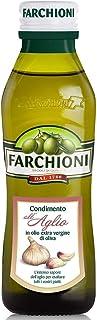 Farchioni - Knoblauch Olivenöl 250 ml - Extra Natives Olivenöl - Knoblauchessenz - Glasflasche 250 ml
