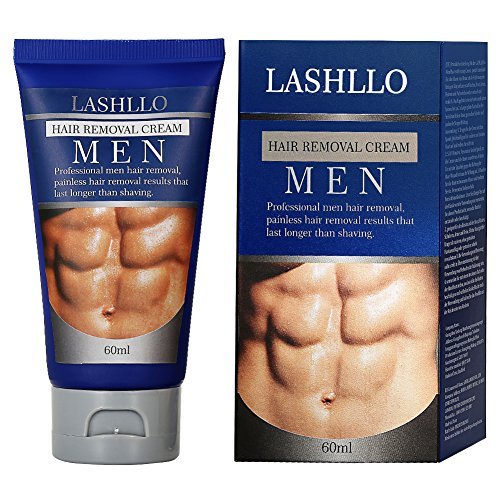Hair Removal Cream for Men, Depilatory Cream, Natural Painless Permanent Thick Hair Removal...