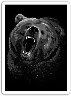 gordonstore Sticker Creature Animal Angry Bear Animals Fauna (3