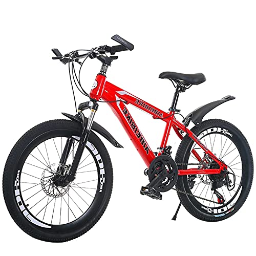 Mountain Bike,20/22/24/26 Inch Wheel 21Speed Adult Variable Speed Road Bicycle Men Women Double Disc Brake Students Sports Cycling Racing Ride red-20 inches