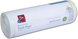 Fun® Indispensable Biodegradable Heavy Duty Garbage Trash Bag Roll with Tie, 15 Gallons - 25 pieces