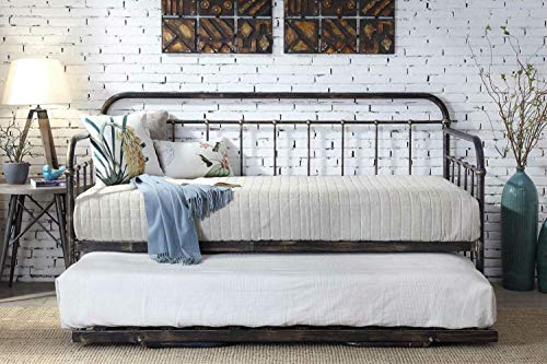 Dream Warehouse Harlow Metal Day Bed with Trundle
