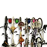 Koova Wall Mount Bike Storage Rack Garage Hanger for 6 Bicycles + Helmets | Fits All Bikes Even...