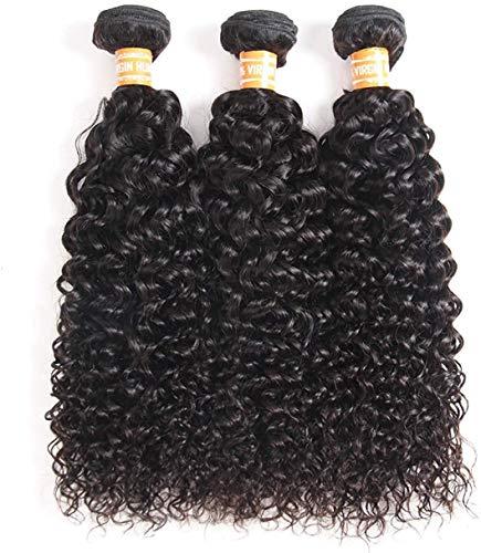 "TOOCCI 3 Tissage Meche Bresilienne Bouclée Bresilien en lot Bresilien Kinky Curly Cheveux Mèches Perruque Tissage Bresilien en lot avec Closure 10""10""10"""