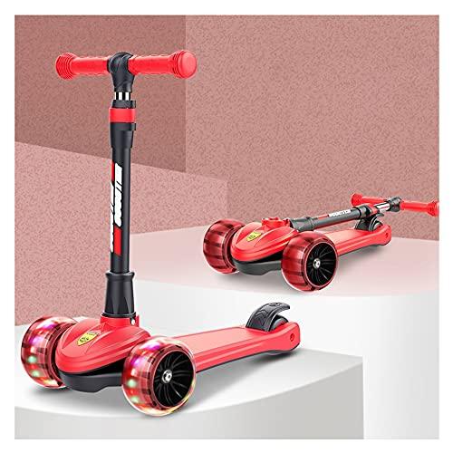 Patinete plegable apto para niños de 2 a 13 años, con ruedas luminosas PU, patinete escolar, regulable en altura -B/B