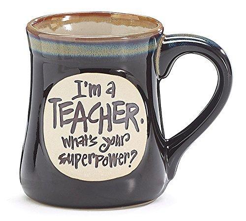 burton+BURTON, I'm a Teacher Superpower, 18 Oz Mug, 1 X, Deep Black