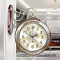 WANIYA1 屋内/屋外パティオ壁掛け時計、ヴィンテージグランドセントラル駅時計レトロアンティーク両面壁時計360度クロックバッテリー運転サイレント非刻み目の防水壁時計