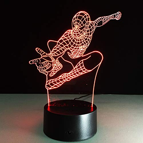 3D nachtlampje illusie lamp LED kinderen cartoon karakter masker licht sfeerlicht afstandsbediening bedlampje 7 kleuren wisselende afstandsbediening bureau lampen verjaardagscadeau