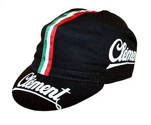 Clement Radmütze Cap Rennmütze Retro Mütze (schwarz)