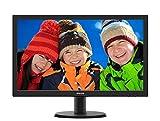Philips 243V5QHABA Monitor 24' LED MVA Full HD, 1920 x 1080, HDMI, DVI, VGA, Attacco VESA, Nero