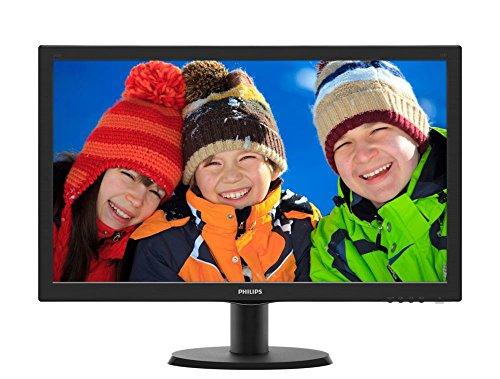 Philips 243V5QHABA Monitor 24  LED MVA Full HD, 1920 x 1080, HDMI, DVI, VGA, Attacco VESA, Nero