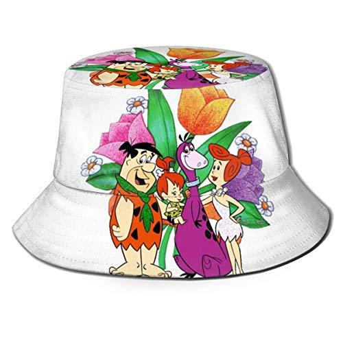 TV Show The Flintstones Fisherman's Hat Sombrero para el Sol - Protección Ultravioleta y Transpirable Gorra de Cubo de ala Ancha para exteriores-2KI
