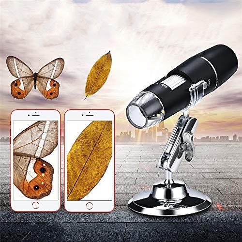 Zavddy-OP Wireless Digital-Mikroskop USB Digital Handmikroskop Drahtlose Vergrößerung Endoskop LED-Mini-Kamera Minitaschen-Handmikroskop (Farbe : Black, Size : Free Size)