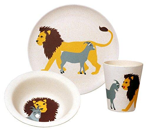 zuperzozial Kinder - BIO Hungry Lion Set Teller+Schüssel+Becher