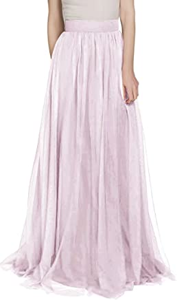 2b457ca2911a1 Lilibridal Maxi High Waist Skirts Tulle Skirt for Wedding Guest Ball Skirts  Prom Skirts Party Skirts